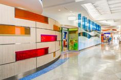 The approach to the redesigned outpatient clinic for the Cancer and Blood Diseases Institute (CBDI) at Cincinnati Children's features separate entrances for younger and older patients. Photo: Courtesy of GBBN Architects and JH Photography Inc.