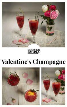 Valentine drink, champagne drink, rasperry cocktail, Valentinstagsdrink, Cocktail, Champagner Cocktail, valantine's day, valentinstag, lovedrink,