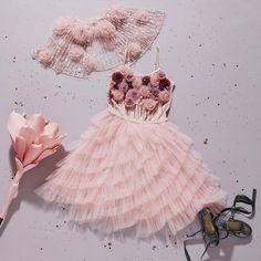'The beauty of life is in each precious moment. Stop, and smell the roses' .the 'Smell the Roses Tutu Dress' from our new 'A Parisian Affair' Collection Flower Girl Dresses Boho, Baby Girl Party Dresses, Little Girl Dresses, Baby Dress, Kids Frocks, Frocks For Girls, Kids Gown, Miss Dior, Kids Fashion