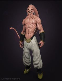 Majin buu looks so evil and terrifying .Also the most difficult opponent faced by Goku