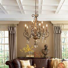 Chandelier In Living Room, Dining Room Lighting, Country Chandelier, Windsor, Living Room Furniture, Living Room Decor, Living Rooms, Wood Furniture, Dining Room