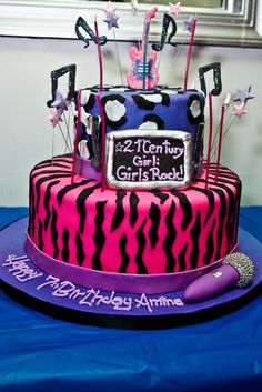 my birthday party them is rock star so i do something like this