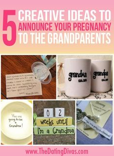 Cute ideas for announcing pregnancy to the grandparents- there is actually 50. I will have to hang on to this