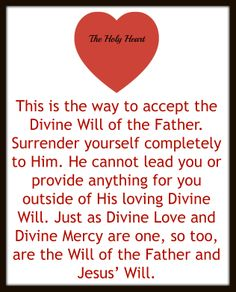 the way to accept the Divine Will