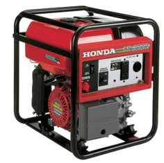 Honda EB3000c.  3000 watts, 120V (25A). Lightweight - only 68 lbs. Honda commercial OHV engine. Exclusive cycloconverter technology. GFCI recepticle. 12V DC charging.