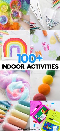 Indoor Activities for Kids - everything from crafts, activities, sensory to educational ideas! Free printable PDF available. therapy for kids free printable Indoor Activities for Kids (with Free Printable)- The Best Ideas for Kids Recycled Crayons, Recycled Crafts Kids, Fun Crafts, Crafts For Kids, Arts And Crafts, Art Therapy Activities, Indoor Activities For Kids, Craft Activities, Toddler Activities