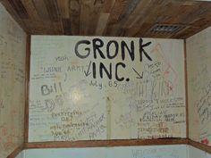 Photo 4 of wall graffiti from Boys old Work Crew quarters when the siding was removed (2013)  #malibu #younglife #malibuclub #ylMalibu #ylMalibuclub