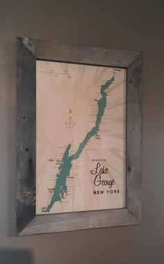 A personal favorite from my Etsy shop https://www.etsy.com/listing/254402854/custom-framed-map-of-lake-george-ny