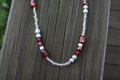 The Ohio State University Beaded Necklace by EridanusJewelry, $15.00