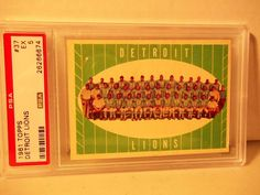 1961 Topps Detriot Lions PSA EX 5 Football Card #37 NFL Collectible #NFL