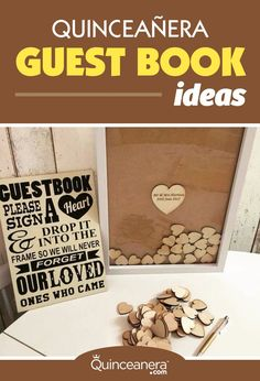 Discover the most unique Quinceanera guest book ideas that no one will want to miss signing. We bet you've never seen these before! - See more at: http://www.quinceanera.com/traditions/clever-quinceanera-guest-book-ideas/?utm_source=pinterest&utm_medium=social&utm_campaign=article-022616-traditions-clever-quinceanera-guest-book-ideas#sthash.mQkIFU9G.dpuf