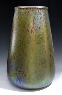 Circa 1890s Lucien Lévy-Dhurmer & Clément Massier Vase