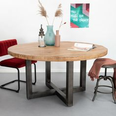 SoHome Ronde Eettafel Lille Wit marmer | Meubelpartner in