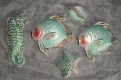 Vintage Fish Seahorse starfish seashell Chalkware  MILLER Vintage Love, Vintage Walls, Vintage Items, Retro Vintage, Starfish Restaurant, Paris Crafts, Vintage Mermaid, Vintage Bathrooms, Vintage Fishing