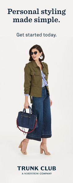 Wish the latest denim would just show up at your door? With Trunk Club, you're paired with your own stylist who shops for you based on your unique style and budget. Getting started is so simple. Fashion Over 50, Look Fashion, Fashion Outfits, Womens Fashion, Fashion 2018, Fasion, Fashion Ideas, Fall Winter Outfits, Autumn Winter Fashion