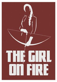 Girl on Fire Katniss Print