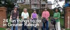 24 fun things to do in Greater Raleigh. I haven't done some many of these things!!