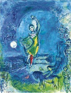 Marc Chagall, The Juggler of Paris (1969)