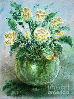 Yellow Roses My favorite subject always, in addition to the birds, is the flowers. I love the impressionist style, freedom of hand and brush, when he slips and... more