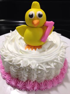 Ducky Smash Cake