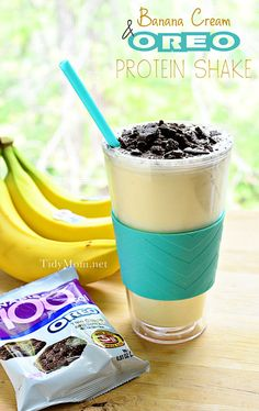 For a protein-packed treat, this Banana Cream & Oreo Protein Shake hits the spot!