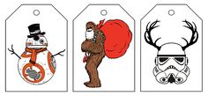 Star Wars Christmas gift tags – Freebie Printable