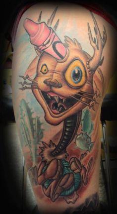 New school tattoo by Tanana Whitfield