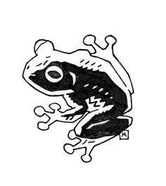 Frog by Mike Mignola Illustrations, Art And Illustration, Comic Books Art, Comic Art, Hellboy Tattoo, Mike Mignola Art, Black And White Drawing, Animal Sketches, Art Sketchbook