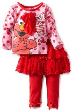 Sesame Street Baby-Girls Infant 2 Piece Elmo Polka Dot Skegging Set, Pink, 12 Months Sesame Street, http://www.amazon.com/dp/B0081QDU34/ref=cm_sw_r_pi_dp_6l1arb1Y36TJ9