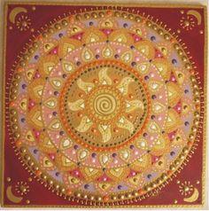 bordó Nap-spirál mandala / darkred Sun-spiral mandala