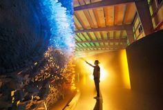 'live park' virtual reality theme park above, the 'lunar face' installation