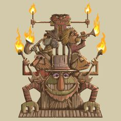 Combines two of my favorite things: tiki and the Electric Mayhem.