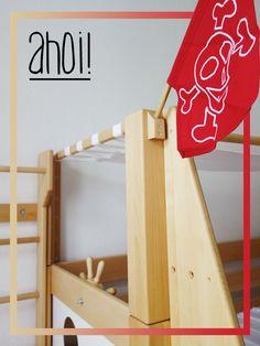 """De Breuyn Piratenbett - jetzt """"Im Zimmer von ..."""" #nachhaltig, #holz #madeingermany"""