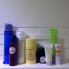 Taking an 18 hour overnight trip? Remember to pack the basics! #SapeloSkinCare Rejuventaing Cream #TaylorofOldBondStreet deodorant & #PhilipKingsley hair care
