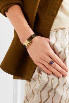 Isabel Marant - Gold-tone Lapis Lazuli Ring - 2