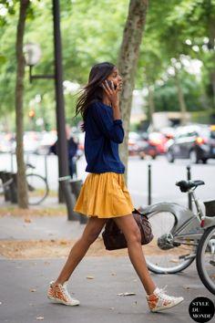Liya Kebede Street Style Street Fashion by STYLEDUMONDE Street Style Fashion Blog