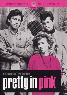 """Pretty in Pink"" - A poor girl must choose between the affections of her doting childhood sweetheart and a rich but sensitive playboy. I used to have a HUGE poster of this on my bedroom wall, had the soundtrack on cassette tape and tried to dress like Andie. Crazy huh."