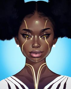 Black Girl Art, Black Women Art, Art Girl, Black Girls, African Life, African Art, African History, Female Images, Female Art