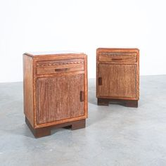 Ceruse Oak Bedside Tables, France, circa 1940 /DERIVE Pair Of Bedside Tables, Oak Beds, Small Tables, Solid Oak, Things To Come, France, Rustic, Contemporary, Interior Design