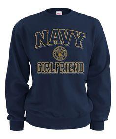 US Navy Blue 'Navy Girlfriend' Sweatshirt - Women & Plus