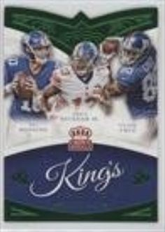 Eli Manning; Odell Beckham Jr.; Victor Cruz (Football Card) 2015 Panini Crown Royale King's Court Die-Cuts Green #KC16 -- Awesome products selected by Anna Churchill