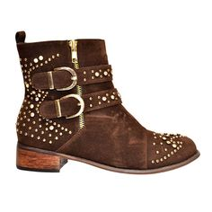 JACOBIES BREAK-7 Women's ankle bootie with faux suede upper and buckled bands >>> Read more reviews of the product by visiting the link on the image.