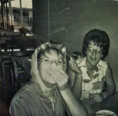 Dawnette Humes and me John's Cafe Yerington, Nevada August 1964