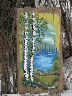 Pallet Painting Feb/17 painted by : Dennis Rawluk