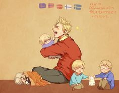 The Nordics - Daddy!Denmark and Kid!Norway,Iceland,Finland and Sweden ❤