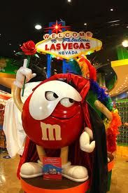 m & m world las vegas  I was a bit upset. The last time I was in a M&M place it was all one floor and loaded to the point I bought tooo much. This time 3 Floors and my bill was about 25$.