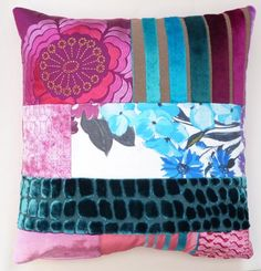 Patchwork cushion in Designers Guild off cuts