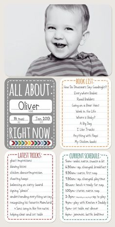Like the fave books idea and schedule card. A good reminder of how crazy life is with a newborn