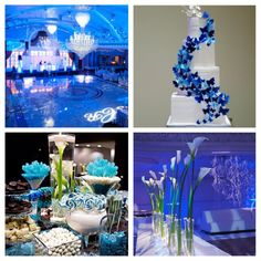 gray and blue weddings | Blue-Wedding-Party-Theme