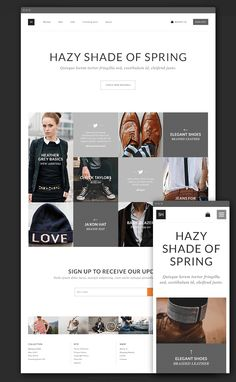 Free Clothing Design Websites Free eCommerce Theme PSD for
